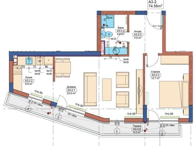 двустаен апартамент софия hq1cd87b