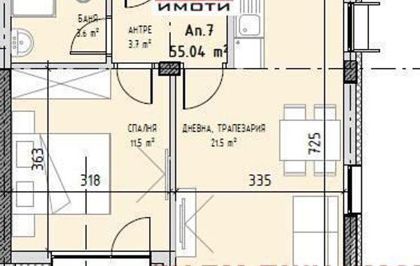 двустаен апартамент софия k2nqadb9