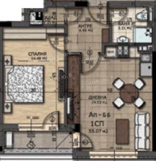 двустаен апартамент софия keeakly9