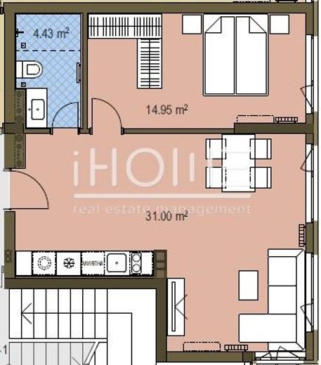 двустаен апартамент софия ktdj46qy