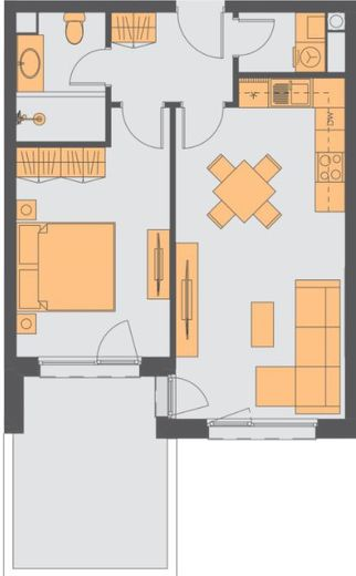двустаен апартамент софия ky6u75dq