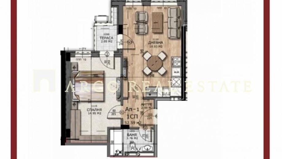 двустаен апартамент софия l4su12p8