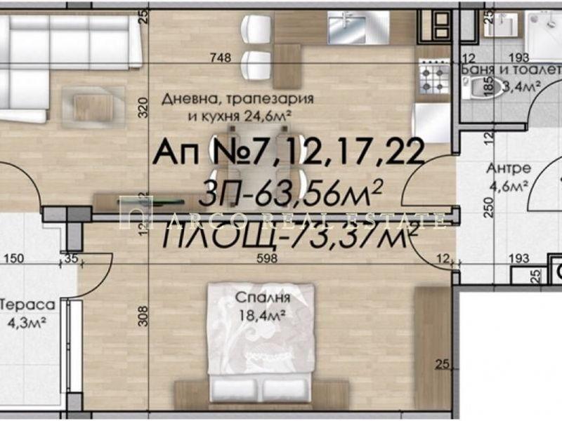 двустаен апартамент софия m5xa7nqd