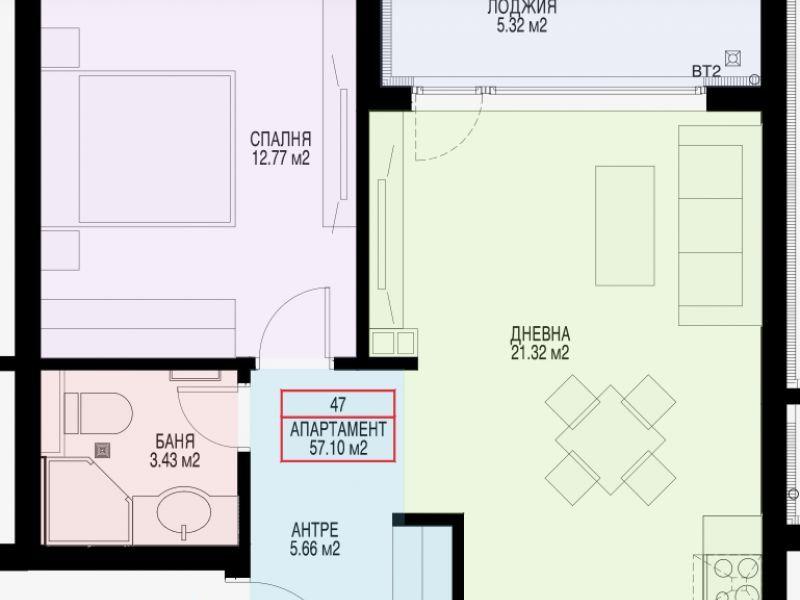 двустаен апартамент софия m8mx8a59