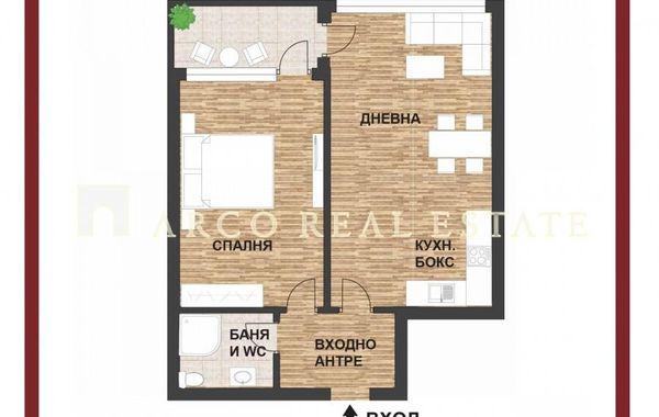 двустаен апартамент софия p2mm14h4