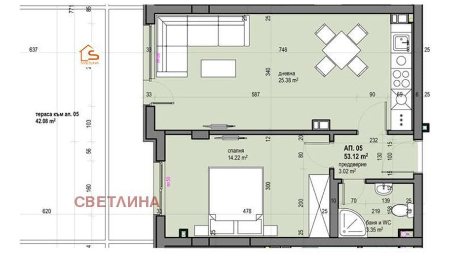 двустаен апартамент софия p74ab7ya