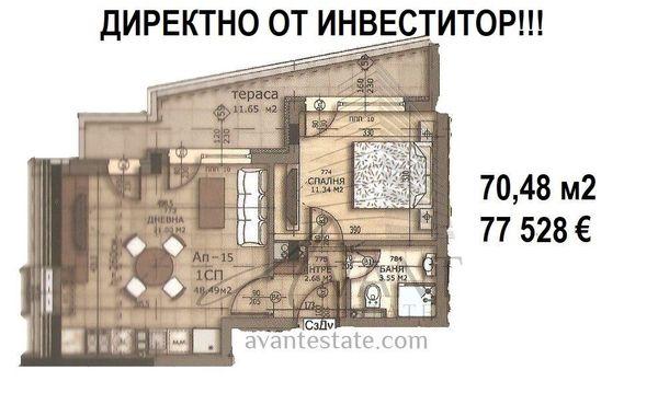 двустаен апартамент софия pntgk1ac