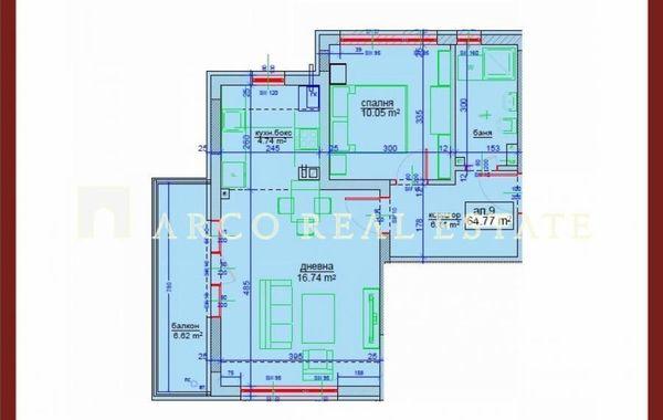 двустаен апартамент софия q7brkg17