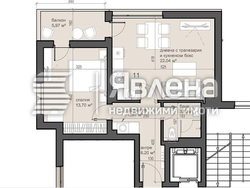 двустаен апартамент софия rrc22kus