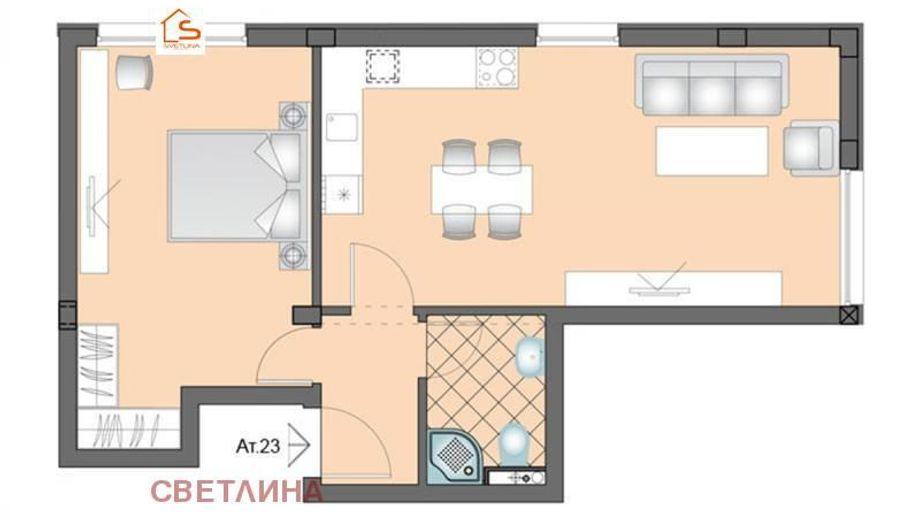 двустаен апартамент софия tgx23r4l