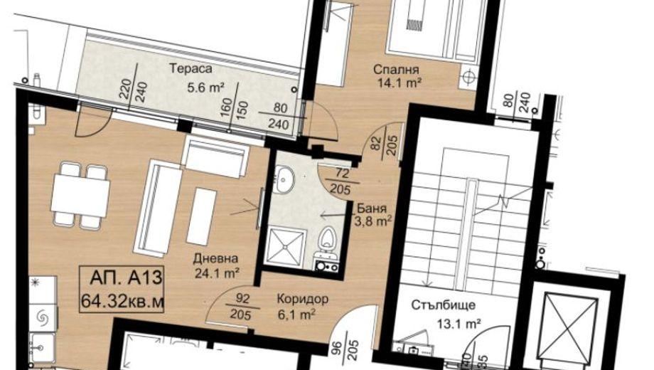 двустаен апартамент софия w1cb9m4k