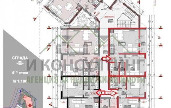 двустаен апартамент софия w55e9hbm