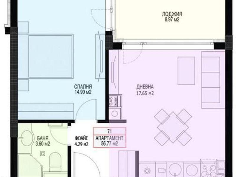 двустаен апартамент софия w5xeuj65