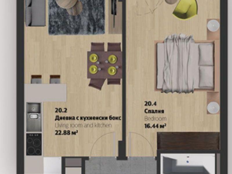 двустаен апартамент софия xr7xjl6k