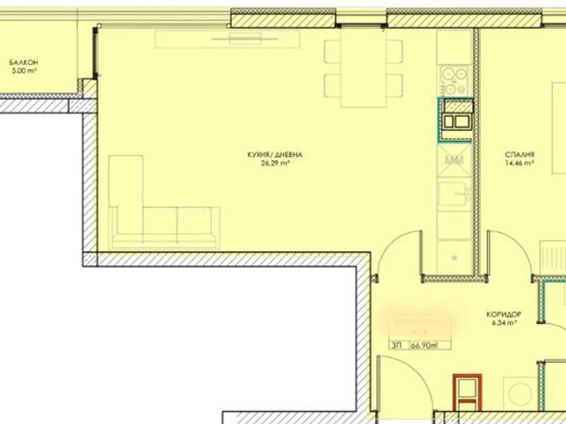 двустаен апартамент софия xy8a5hvc