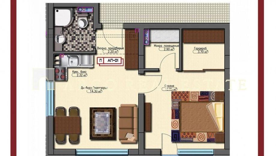 двустаен апартамент софия y15143rv