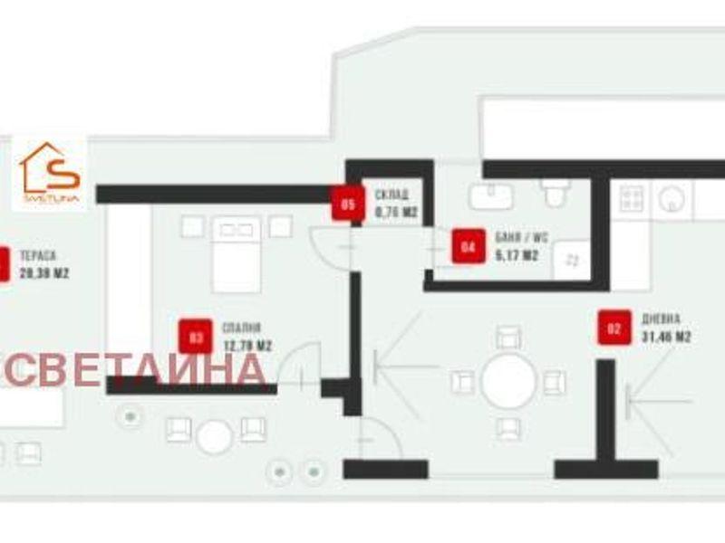 двустаен апартамент софия y66t4mac