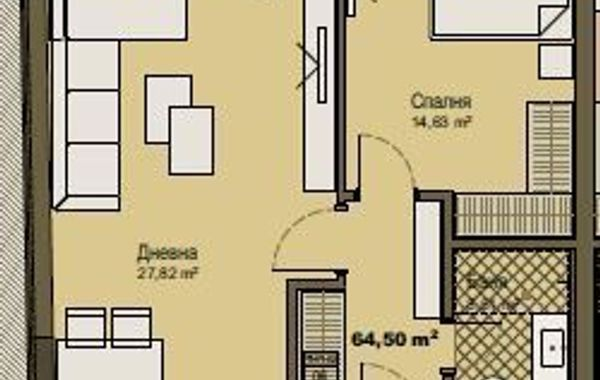 двустаен апартамент софия y68hgbwa