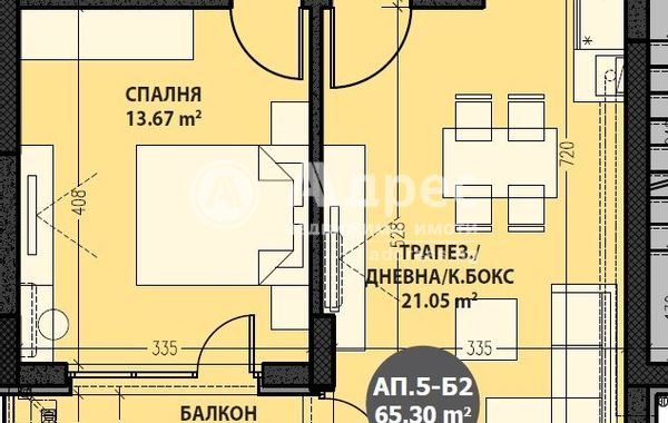 двустаен апартамент софия ycrsag36