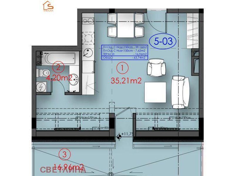 едностаен апартамент софия 3vy177r5