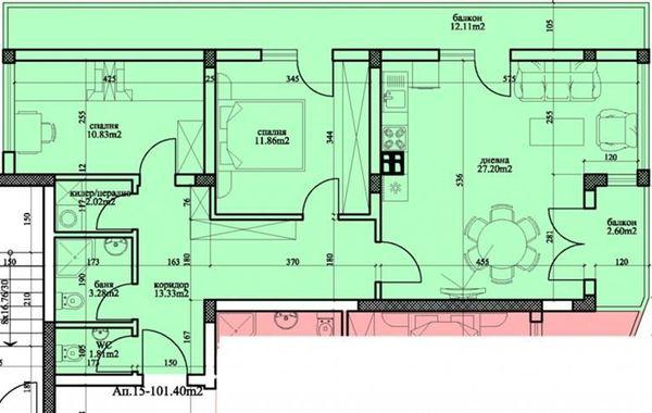 тристаен апартамент варна 6418l4la