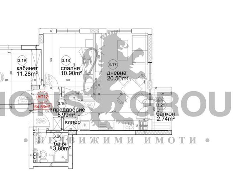 тристаен апартамент варна 81671gaj