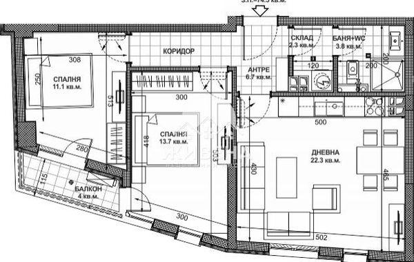 тристаен апартамент варна aly1r18x