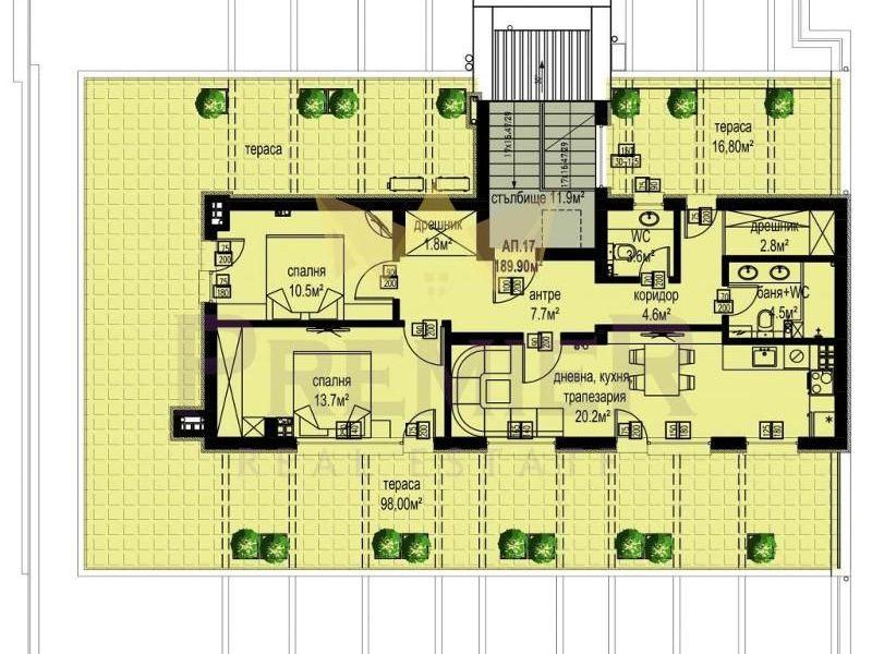 тристаен апартамент варна s2xf13h7