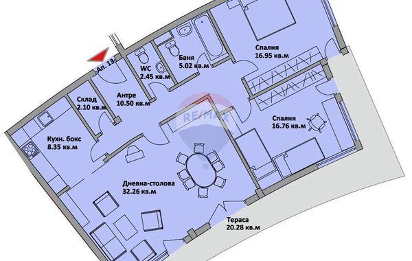 тристаен апартамент варна ueprh417