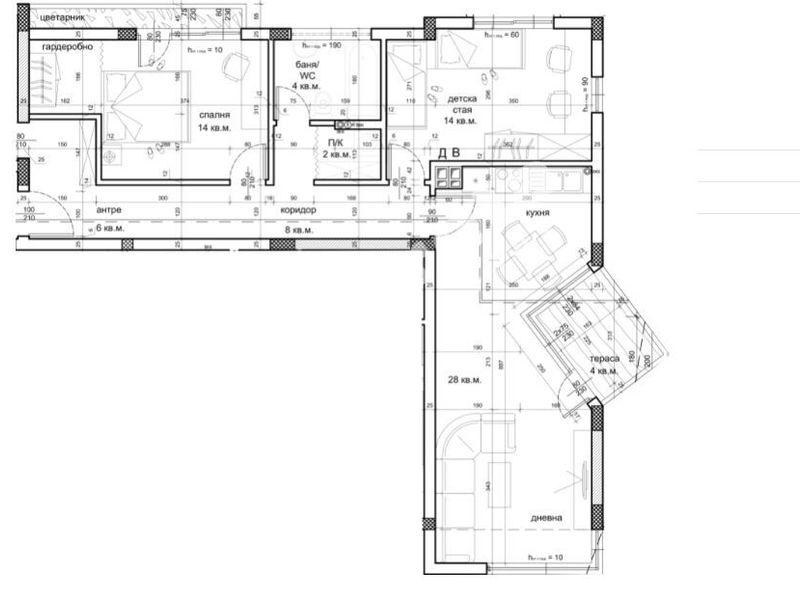 тристаен апартамент варна w3vcn31b