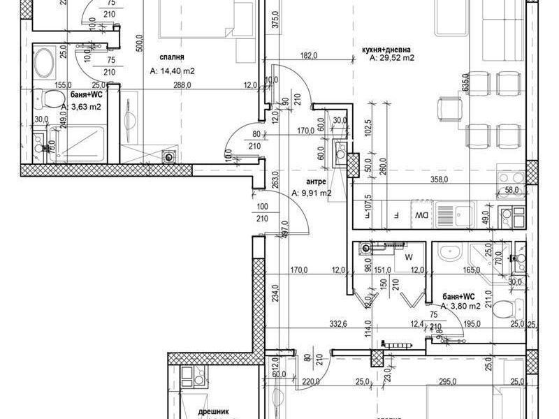 тристаен апартамент софия 142c2whg