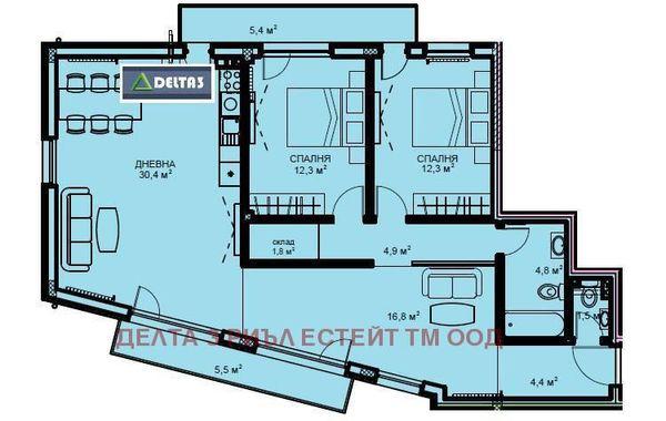 тристаен апартамент софия 192hjghm