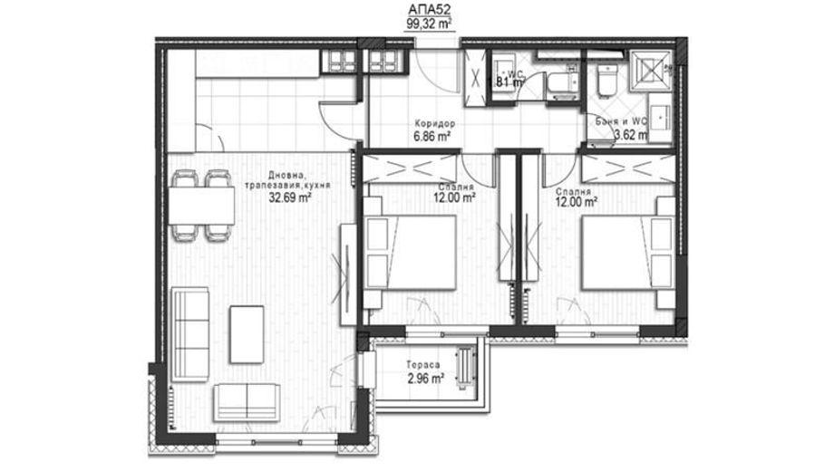тристаен апартамент софия 2te2dxfx