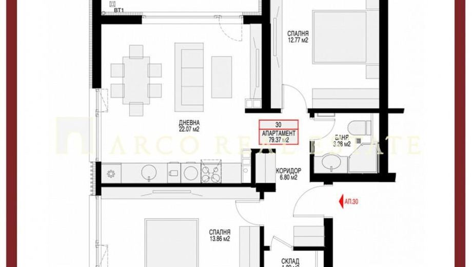 тристаен апартамент софия 3j4a25y4