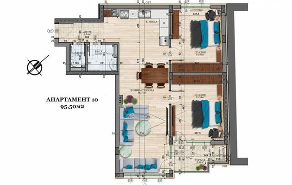 тристаен апартамент софия 4g47u5gl