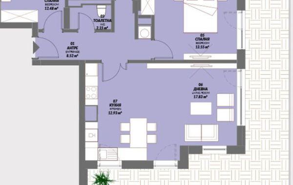 тристаен апартамент софия 54cbakky