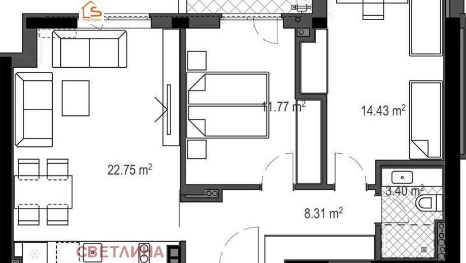 тристаен апартамент софия 6cxag54f