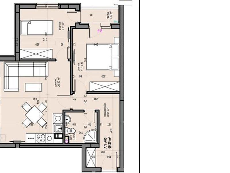 тристаен апартамент софия 6g38f9bj