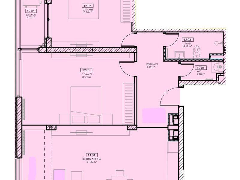 тристаен апартамент софия 73mca4jd