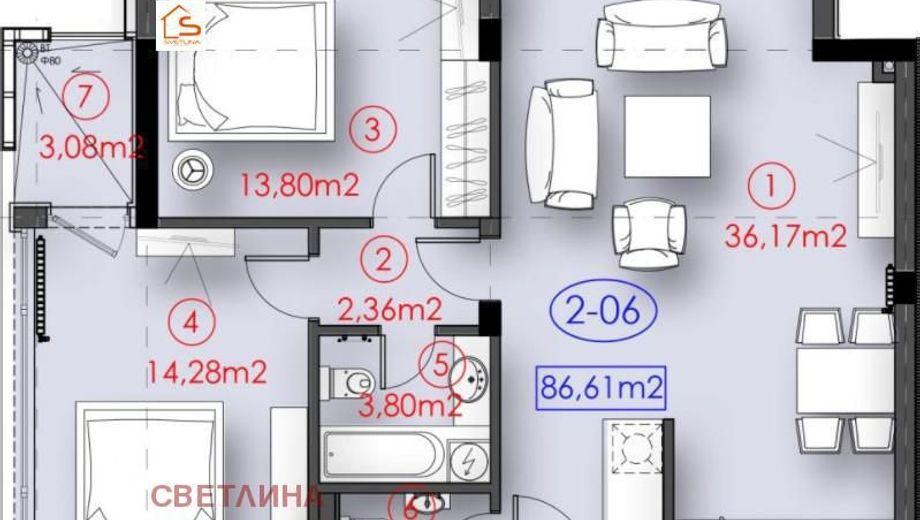 тристаен апартамент софия 744yyccd