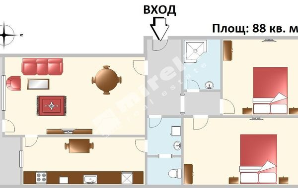 тристаен апартамент софия atj324uc
