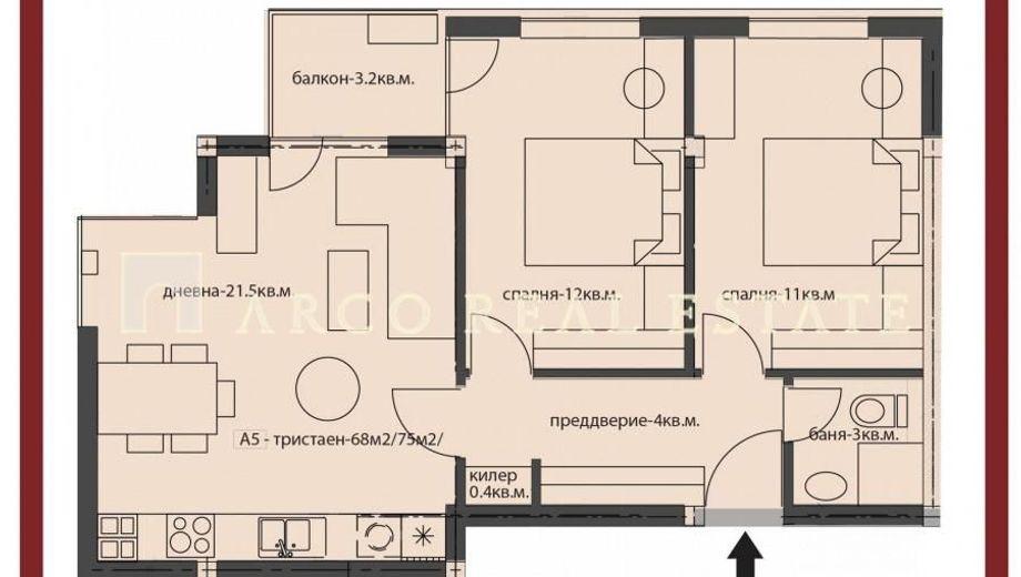 тристаен апартамент софия bra431s3
