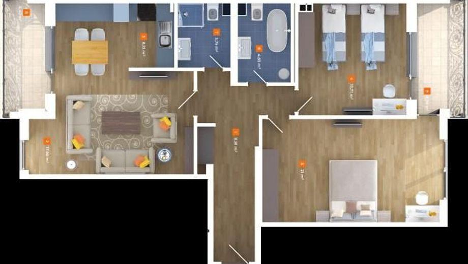 тристаен апартамент софия dftublx2