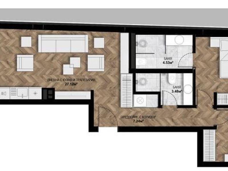 тристаен апартамент софия dmgb6tsk