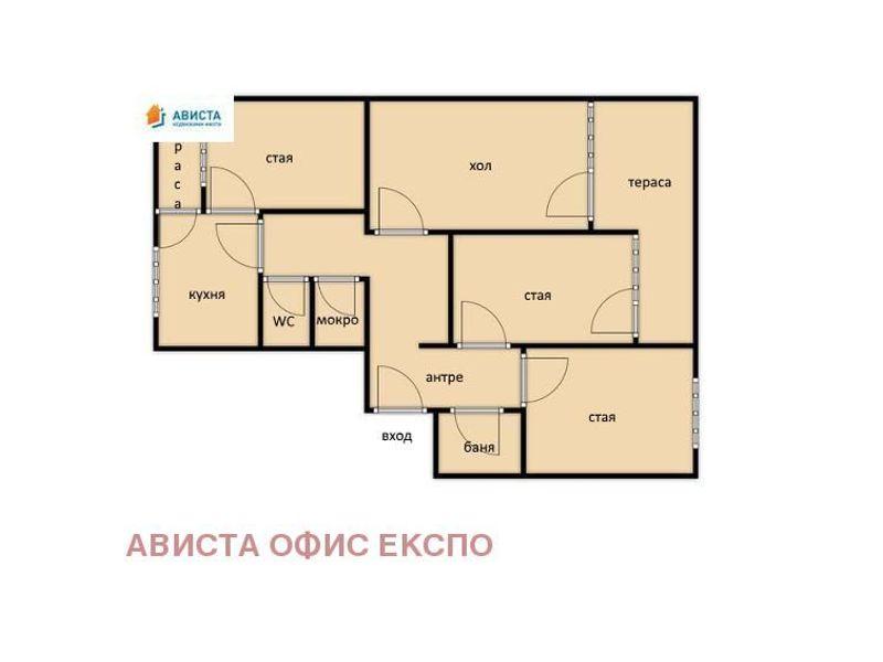 тристаен апартамент софия e16mc38p