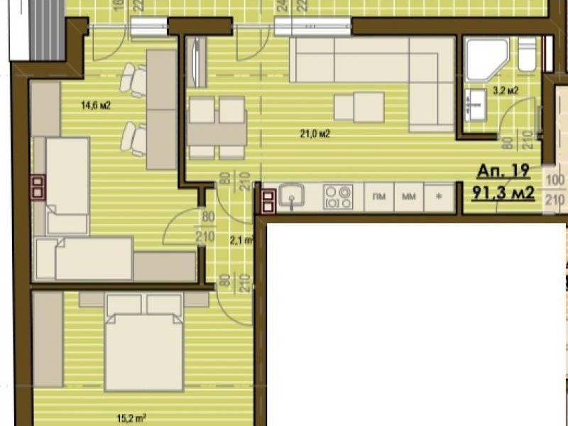 тристаен апартамент софия fbub4bal