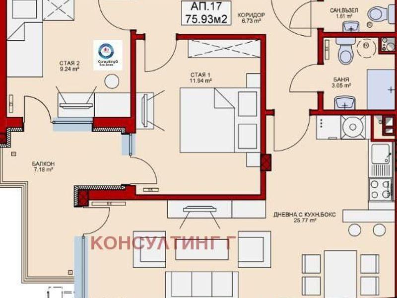 тристаен апартамент софия ga1mcw4l