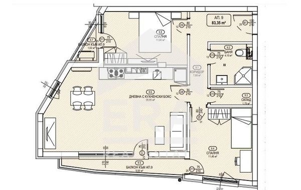 тристаен апартамент софия hxxd1px5