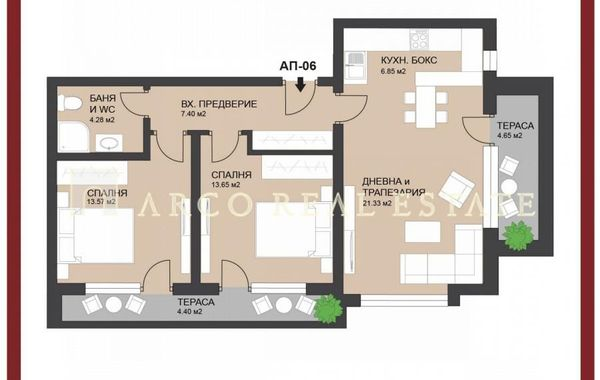 тристаен апартамент софия ks5h6nst