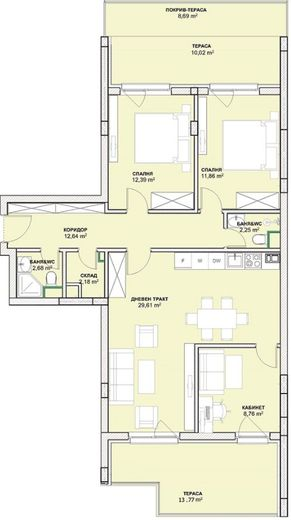 тристаен апартамент софия l237b4vp